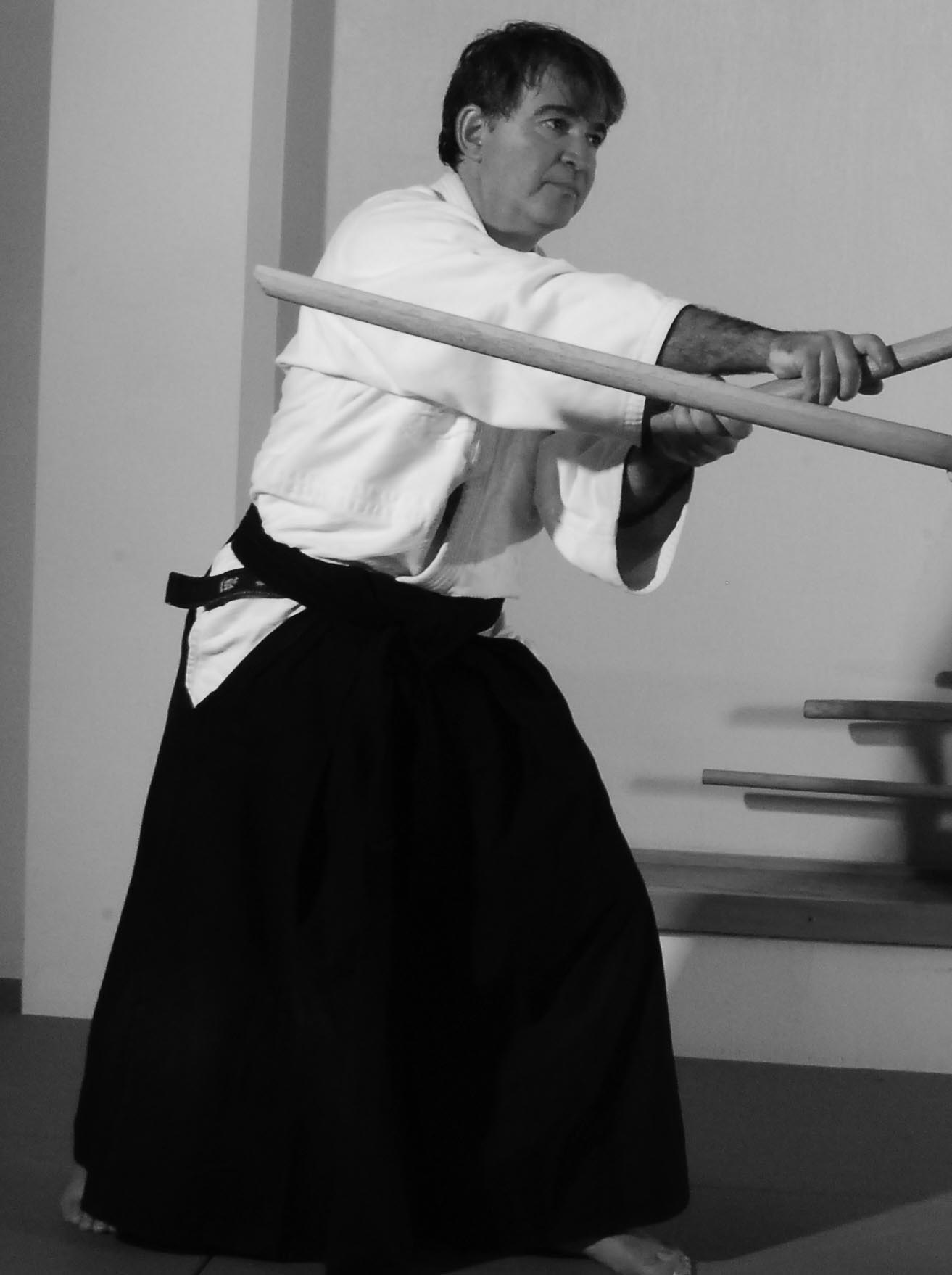 Dino Manco, Aikido weapons instructor at Naka Ima Aikido